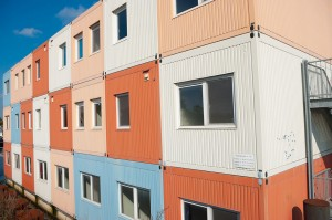 housing made with mobile storage containers