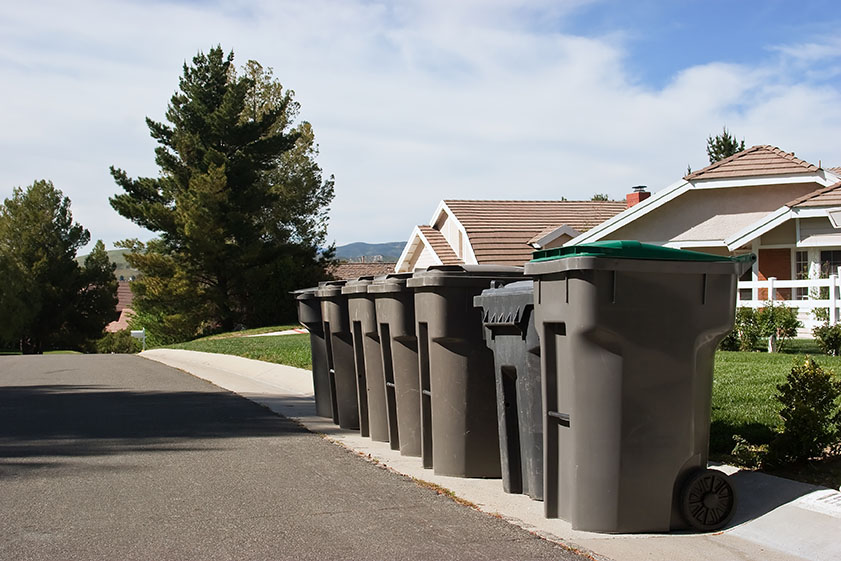 Garbage collection for residential neighborhood